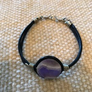 Jewelry - Pretty Purple and Gray Stone Bracelet